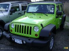 2012 Jeep Wrangler Unlimited Sport Gecko Green Color - Looks like mine! Jeep Wrangler Unlimited, 2012 Jeep Wrangler, Nutella Hot Chocolate, Dark Chocolate Chips, 4x4, Camper Boat, Green Jeep, Brownie Bar, Green Colors