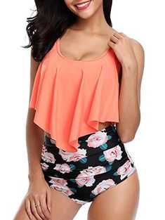 7a936ca4f3c86 Floral Print U Neck Tankini Set Use Code RGBF1 Get 25% OFF Discount!