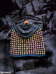 Virkkaa värikäs poncho | Kotivinkki Crochet Clothes, Baby Knitting, Knit Crochet, Crocheting, Baby Knits, Finland, Accessories, Fashion, Crochet Hooks