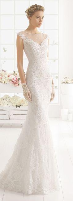 Aire Barcelona mermaid lace wedding dress 2016: