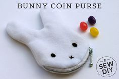 Easter is right around the corner and I couldn't resist whipping up a cute  little bunny DIY. My niece is a big fan of Miffy the bunny and of anything  purse-like, so of course, a little bunny coin purse was in order. Filled  with candy or other treasures and shaped like an adorable bunny, what could  be better? As a gift to all of you, I've created a PDF pattern of the bunny  shape so you'll be able to make your own!