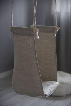 Small Armchair For Bedroom Hanging Hammock Chair, Swinging Chair, Chair Swing, Hanging Chairs, Diy Hammock, Hammock Swing, Oscilación Interior, Indoor Swing, Restaurant Chairs For Sale