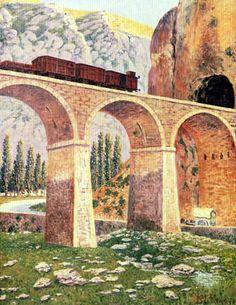 Darío de Regoyos y Valdés - El túnel de Pancorbo. Darío de Regoyos (1857-1913) is considered to be the greatest Impressionist exponent of Spanish painting.