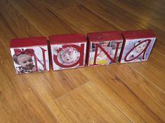 Personalized Photo Gift Photo Letter Blocks by WasteNotRecycledArt, $30.00