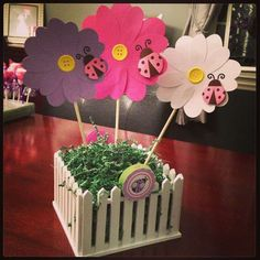 Pink and Purple Ladybugs & Butterflies Birthday Party Ideas | Photo 10 of 41 | Catch My Party