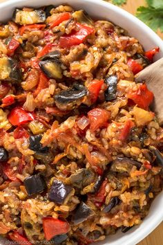 Easy Eggplant Recipe - This is the ultimate eggplant recipe to have! Made from basic ingredients and cooked in one-pot, this easy eggplant recipe can be served SO many ways! It goes as a meal alone, side, spread, salad–you name it! Delicious HOT or COLD! Healthy Meals, Easy Meals, Healthy Eating, Healthy Recipes, Easy Recipes, Healthy Sauces, Diet Recipes, Vegetarian Recipes, Cooking Recipes