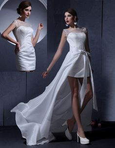 Sweet Satin and Organza Convertible Wedding Dress would be perfect for a summer beach wedding
