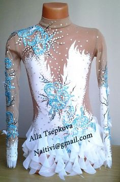 Inspirate with this lovely leotard. Gymnastics Suits, Rhythmic Gymnastics Leotards, Gymnastics Girls, Figure Skating Outfits, Figure Skating Dresses, Aerial Costume, Glitz Pageant, Dance Outfits, Dance Costumes