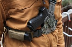 I recently found myself looking at chest holster options for hiking in areas where sharp clawed/teethed critters hang out and I came across the Kenai Chest Holster from GunfightersINC. I have owned… Coldre Kydex, Kydex Holster, Edc Tactical, Tactical Survival, Chest Rig, Tac Gear, Cool Gear, Hunting Gear, Hand Guns