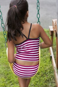 Zaaberry: Girls 2-Piece Swimsuit - TUTORIAL & PATTERN