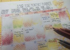 1000Year Monthly Schedular Planner Unlimited Year by Prettybox4her