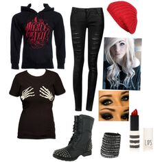 """Emo☁"" by mitziarias on Polyvore"