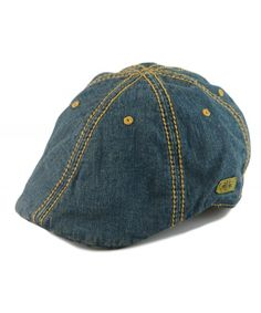 0762d43b9e0 Mens Vintage Look 6pannel Duck Bill Curved Ivy Drivers Hat One Size-Elastic  Band Denim Blue C812EYM94HB