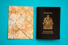 Set of 20 passport size upcycled atlas envelopes  by LeaSeguin, $15.50