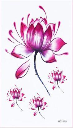 Women Sexy Finger Wrist Flash Fake Tattoo Stickers lotus flower Design Waterproof Temporary Tattoos Sticker C5085-in Temporary Tattoos from Health & Beauty on Aliexpress.com | Alibaba Group