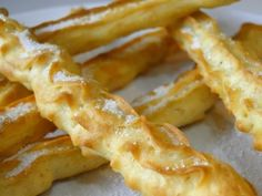 churros-al-horno-sin-azucar-sucralosa Bolo Fit, Light Snacks, Tiny Food, Pan Dulce, Healthy Desserts, Sweet Recipes, Bakery, Food And Drink, Cooking Recipes