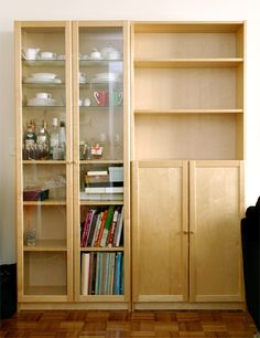 Ikea Billy Bookshelves With Doors In Birch