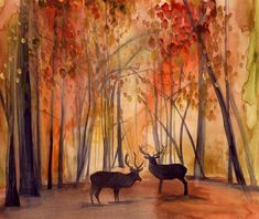 Autumn  Landscape Print  by MaiAutumn