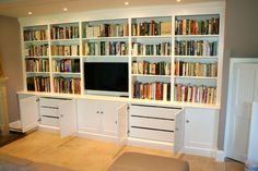 Bespoke bookcase makers in london the bookcase co tv display unit, media st Wall Shelving Units, Furniture, Built In Tv Wall Unit, Bookcase, Living Room Decor Inspiration, Bookcase Wall, Tv Bookcase, Media Furniture, Living Room Designs
