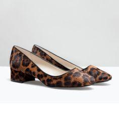 Zara shoes New with tag. EUR 39 US 8 Leather ballerina flats with medium height heel. Calf hair finish. Animal print. Heel height 3.5 cm. Upper: 90% Cow Furskin 10% Polyurethane Lining: 70% Polyurethane 30% Polyester Sole: 100% Styrene Butadiene Rubber Zara Shoes