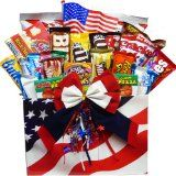 Art of Appreciation Gift Baskets All American Snacker Gift Candy and Junk Food Box, Summer