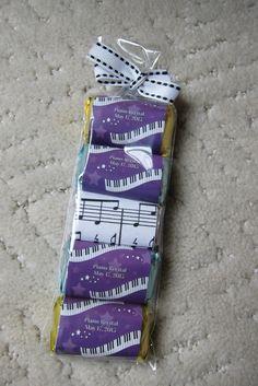 piano recital favors