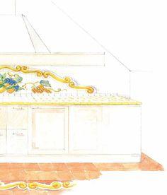 #Cevi #ceramica #lavorisumisura #cucina #schizzi