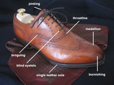 There's a reason that shoes can cost $300 or more. It's all in the details and the craftsmanship. //Shoe Terminology