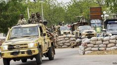 Nigerian military patrol in Maiduguri