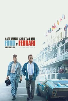 Academy Award® Winners Matt Damon and Christian Bale star in FORD v FERRARI, based on the true story of visionary American car designer Carroll Shelby (Damon. Movies 2019, New Movies, Movies To Watch, Good Movies, Movies Online, Movies Free, Imdb Movies, Netflix Movies, Comic Movies