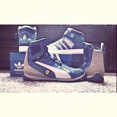 Adidas originals and Puma  #varialmid #scuderiaferrari #adolfdassler #rudolfdassler