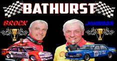 Peter Brock & Dick Johnson Bathurst Flag 1500 x 900 with two eyelets for easy hanging V8 Supercars, Road Racing, Kobe Bryant, Super Cars, Avengers, Bob, Flag, Australia, Running