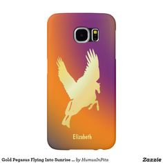 Gold Pegasus Flying Into Sunrise Phone Case Samsung Galaxy S6 Cases