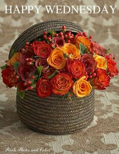 Bildergebnis für Happy Wednesday with beautiful Fall flowers