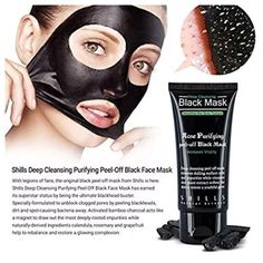 Shills Deep Cleansing Black MASK peel off facial acne mud Blackhead Remover Kit  | eBay