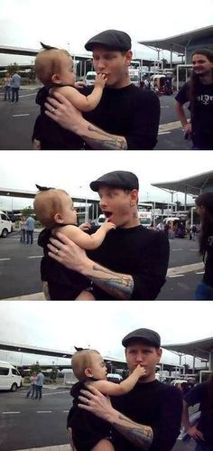 Nothing cuter than Corey with a baby!!