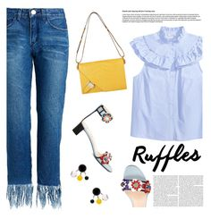 """Ruffled Up"" by euphemiasun97 ❤ liked on Polyvore featuring Fendi and Eshvi"