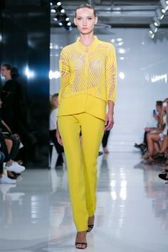 A look from the Ralph Rucci Spring 2015 RTW collection.