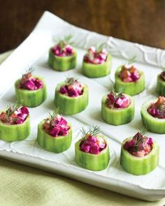 Cucumber Cups with Roasted Beets