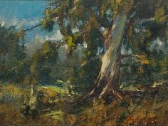 Anton Benzon (SA, born Oil, Landscape with Bluegum Tree South African Artists, Anton, Painters, Passion, Oil, Landscape, Image, Scenery, Landscape Paintings