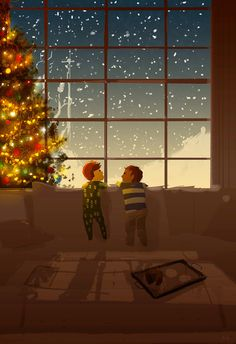Cute Christmas illustration by Pascal Campion