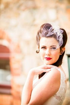 Hair and veil ideas - vintage birdcage and retro pin up hair