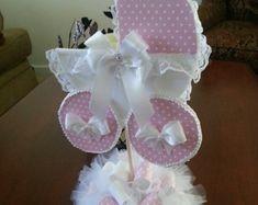 La pieza central del carro de bebé de Aniya / centro de mesa Baby Shower por TheCarriageShoppe