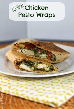 Emily Bites - Weight Watchers Friendly Recipes: Grilled Chicken Pesto Wraps