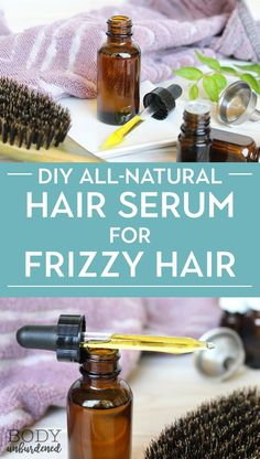 This DIY all-natural hair serum is the perfect remedy for dry, brittle, or frizzy hair! Plus, it