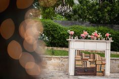Allan House — Shanti + Rob — Outdoor courtyard, twinkle lights, chandeliers, food trucks   Loot Vintage Rentals   Intandem Photography   Peached Tortilla   Seedling Truck   Cool Haus   Pollen Floral Art