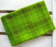 Felted Wool Fabric - Hand Dyed Wool Fabric in Bright Green Fat Quarter - Plaid - Applique or Rug Hooking Wool by SimplyUniqueBySheila on Etsy