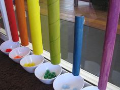Sorting Colours with Cardboard Tubes 2