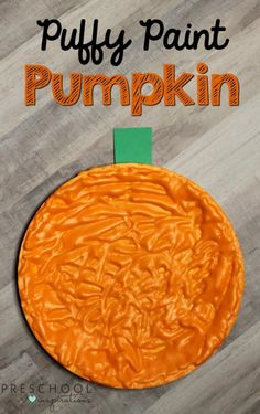 How to Make Puffy Paint Pumpkins for a Fall Art Activity These puffy paint pumpkins smell great, and they will brighten up your room too. Your students are sure to love making this simple fall art activity. Fall Preschool Activities, Preschool Art Projects, Fall Art Projects, Art Activities, Pumpkin Preschool Crafts, Preschool Lessons, Pre K Pumpkin Crafts, Halloween Activities For Preschoolers, Themes For Preschool