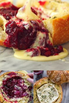 christmas dinner This tear apart Baked Cranberry Brie Bread Bowl is a beautiful holiday party appetizer. Melty brie and sweet tart cranberry sauce are a match made in heaven! Great Appetizer for New Years Eve, or Christmas Dinner! Holiday Party Appetizers, New Years Appetizers, Snacks Für Party, Appetizers For Party, Dinner Party Meals, Party Food Recipes, Fun Dinner Ideas, Different Dinner Ideas, New Years Dinner Party